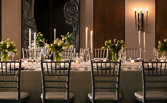 Dining Table reception set up